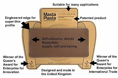 "MastaPlasta Self-Adhesive Leather Repair Patch 20x10cm 8x4"" Sofa Car Seat Bags"