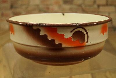 Vintage Esmaltada Tazón de Fuente Cuenco Frutero Cuenco Decorativo Esmalte 50er 6