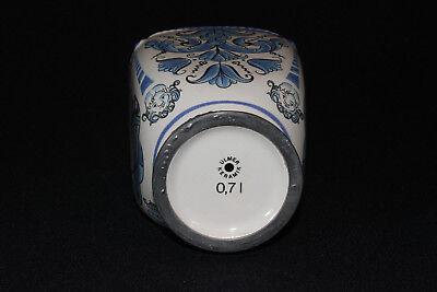 Apothekerkrug Keramikkrug Apothekergefäß mit Zinn Schraubverschluß Ulmer Keramik 9