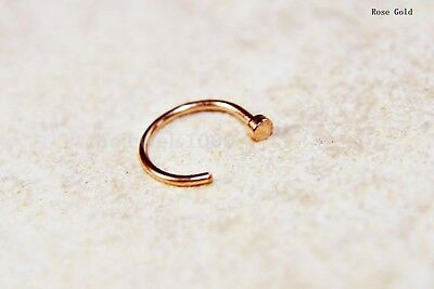 Uk Extra Small Nose Ring Thin Open Nose Hoop Piercing Stud Silver