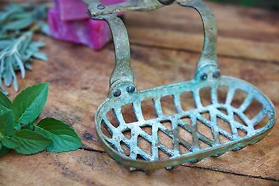 Antique Vintage Victorian Brass Soap Dish For Clawfoot Tub