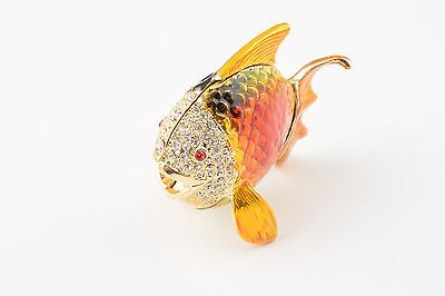 9 Of 11 Fish Trinket Box By Keren Kopal Austrian Crystal Jewelry Faberge