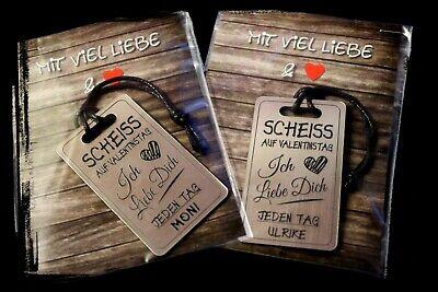 1 Schlüsselanhänger +Namen Gravur - Scheiss auf  Valentinstag / Geschenk 2