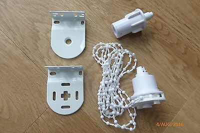 32mm PROFFESIONAL HEAVY DUTY WHITE ROLLER BLIND REPAIR KIT FOR SPARES OR PARTS 2