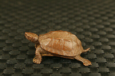 chinese Red copper bronze hand cast tortoise statue netsuke collection 4