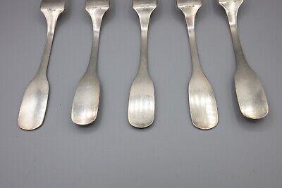 """Hans Hansen Susanne Sterling Silver Dinner Fork, Denmark – 7 1/8"""" – Set of 5 3"""