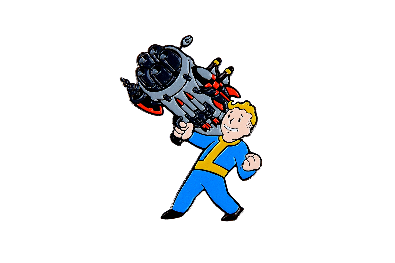 FALLOUT 4 VAULT Boy Metal Pin Big Guns Perk - 3 2 New Vegas 4 5 Gun Weapon  TG 76