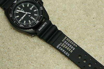 Rubber Divers ND Limits Polyurethane Watch Strap Fits Seiko Citizen 18-22mm 4
