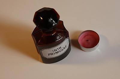 Apothekerflasche, Form selten, INTR. PRIMULAE rund mit 4 Kanten,alt,emailliert