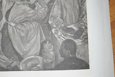 Seltene Litographie, Med Uni Wien, Autopsie Lehrsaal, um 1930 8
