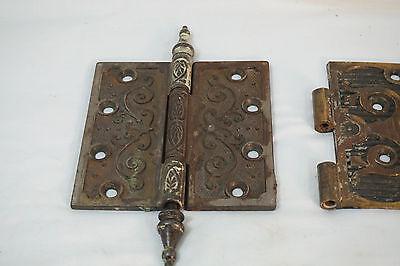 Antique Door Hinges Aesthetic Hardware Victorian Lot Steeple 1877 Singles 2