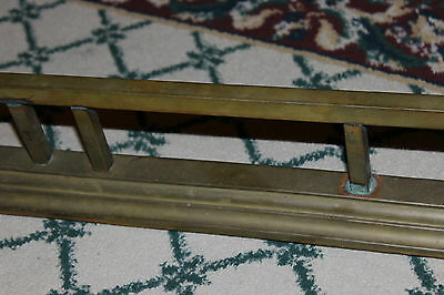 "Antique Fireplace Fender Surround Skirt-Copper & Brass-52"" Long-Arts & Crafts 4"