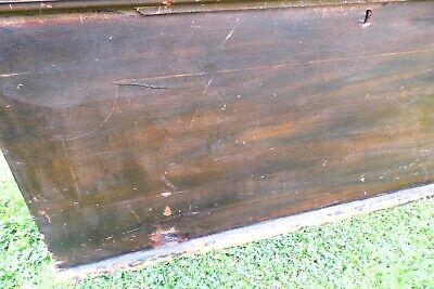 Antique Victorian Old Pine Chest / Trunk / Blanket Box c1860 7