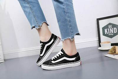 MENS WOMENS VAN Classic OLD SKOOL Low Top Casual Canvas sneakers Shoes 4