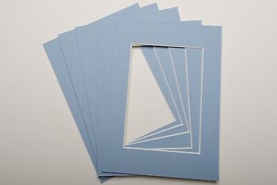 Pack Of 5 Photo Picture Mounts 5 X 7 Inch For 5 X 3.5 Print Choice Of Colours 8