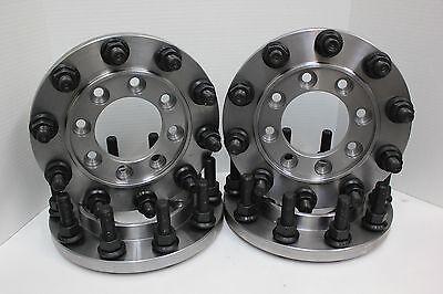 4 Pc 8 Lug To 10 Lug Steel Adapters Mount 22.5 24.5 Semi Wheels On 99-2004 F-350