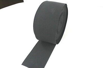 1 METER Gummiband ca.25/30 40/50/60 mm breit schwarz , mittelstarker Zug 3
