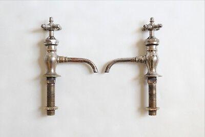 antique faucet bathroom sink | peck bros vtg victorian bathroom plumbing deco 2