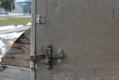 Antique 40.5 Steel Steel-craft Fire Doors w Track Rating 1 1/2 HR. (B) Sliding