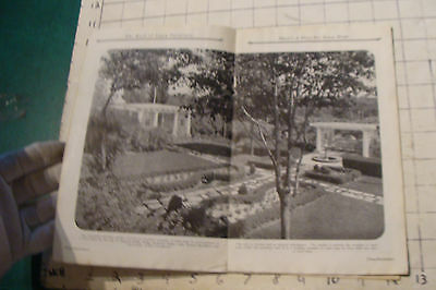1925 THE BOOK OF LAWN FURNITURE--Long Bell lumber--CATALOG, 36pgs STAINED 8