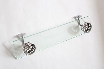 antique bathroom glass shelf double cup holder | hoegger deco vtg tumbler holder 2