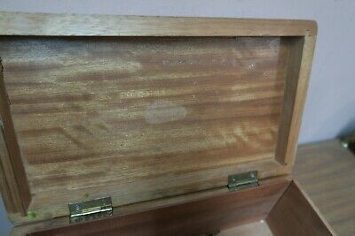 "Vintage Box Asian Teak Carved Wood Wooden Chest 7"" x 12"" and 5"" high Plowing 9"