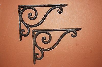 """(17) Vintage-Look Corbels, Cast Iron Corbels,elegant Swirl Design, 9 1/4"""",b-6 2"""
