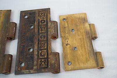 Antique Door Hinges Aesthetic Hardware Victorian Lot Steeple 1877 Singles 11