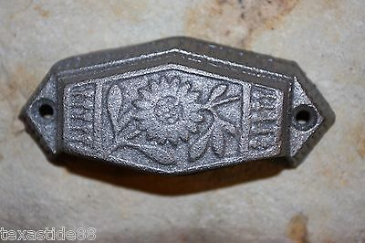 "(6) Vintage-Look Sunflower Drawer Pull, 3"", Small Pull, Cast Iron Pulls, Hw-12 5"
