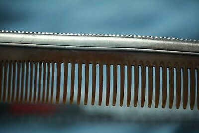 Vintage Antique Sterling Silver And Bakelite Comb ! Amazing Shape ! Late 1800's 4