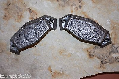 """(18)Vintage-Look Sunflower Drawer Pull, 3"""", Small Pull, Cast Iron Pulls, Hw-12 2"""