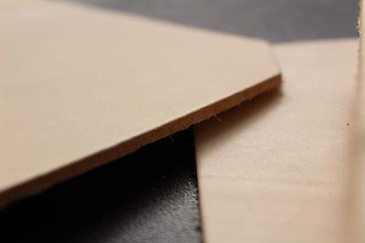 Rindleder Blankleder Punzierleder, Lederstück 33x24,5 cm Dickleder Narbenleder