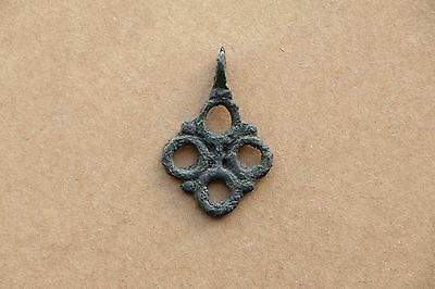 Beautiful RARE Viking Kievan RUS Pendant Cross 9-10 AD 2