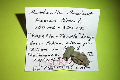 Ancient ROMAN ROSETTE THISTLE BROOCH 100 AD fibula jewelry old artifact antique 6