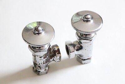 antique faucet wheel shut off angle valve | republic deco vtg victorian plumbing 4