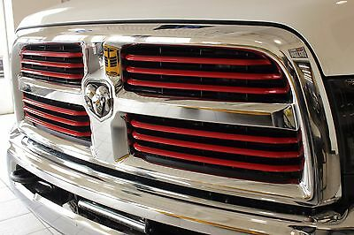 2014 2017 dodge ram 2500 powerwagon chrome with red inserts grille mopar oem 7 - Dodge Ram 2500 2014 Red