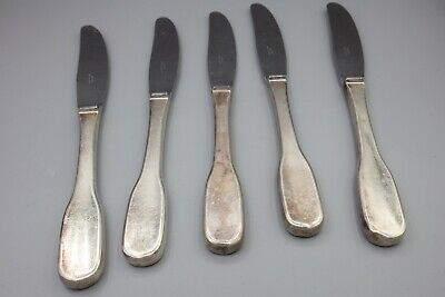 "Hans Hansen Susanne Sterling Silver Dinner Knife Stainless Blade 8 3/4"" Set of 5 3"
