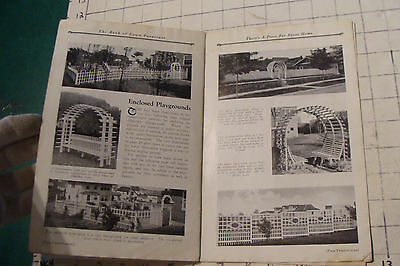 1925 THE BOOK OF LAWN FURNITURE--Long Bell lumber--CATALOG, 36pgs STAINED 10
