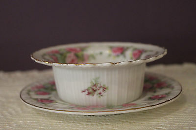 Beautiful C.t. Germany Ramekin Soup / Dessert Bowl & Plate Set
