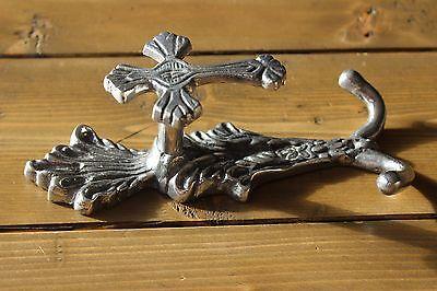 Vintage Cast Aluminum Cross Religious Coat Hook 3