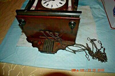 ANTIQUE CUCKOO clock WALL CLOCK WOODEN PLATES CLOCK BEHA??? for parts 3