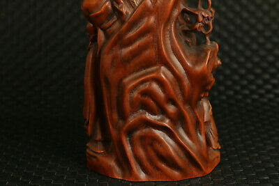 Chinese old boxwood  hand carving Eight Immortals statue noble decoration gift 7
