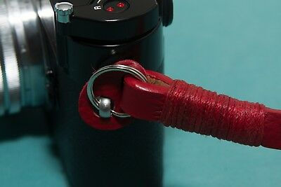 Leather Camera Strap - Red 5