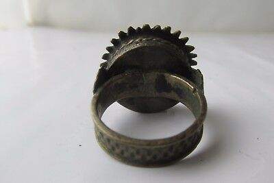 Unique Rare Ancient Late Roman/Early Byzantine Ring With Cross 4