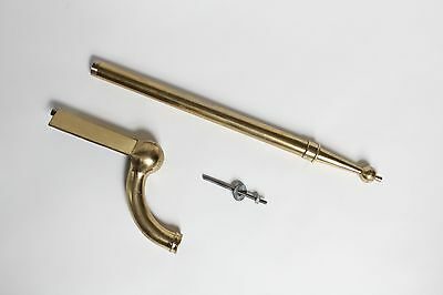 antique brass sink leg bathroom | peck bros vtg sink leg support art deco nickel 3
