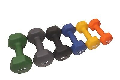 POWERT HEX Neoprene colorful dumbbell set weight lifting Workout Training 4-35LB 3