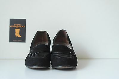 Damen IRUS Pumps Schuhe 60s 38 EUR schwarz Veloursleder 5 UK