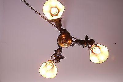 19C French Gilded Bronze Cherub Chandelier 9