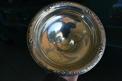 Vintage Sterling Silver compote candy dish Dansk Rose weighted Perfect Estate 2