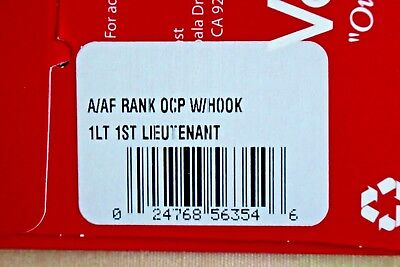Us Army Gi Multicam Ocp O-2 1Lt Hook Back Camouflage Camo Uniform Rank Patch